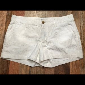 Old Navy White Embroidered Shorts